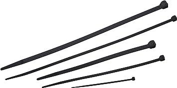 Meister Kabelbinder Sortiment 250 Teilig Schwarz Verschiedene Größen 100 200 300 Mm Stabiles Nylon Uv Beständig Kabelbinder Set Für Bündelgut Kabelverbinder 7452480 Baumarkt