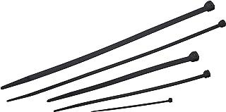 Meister Kabelbinder Sortiment 250 teilig   schwarz   Verschiedene Größen   100 / 200 / 300 mm   Stabiles Nylon   UV Beständig / Kabelbinder Set für Bündelgut / Kabelverbinder / 7452480