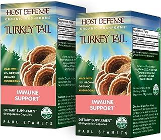 Fungi Perfecti Host Defense Turkey Tail 60 Capsules - TwinPak