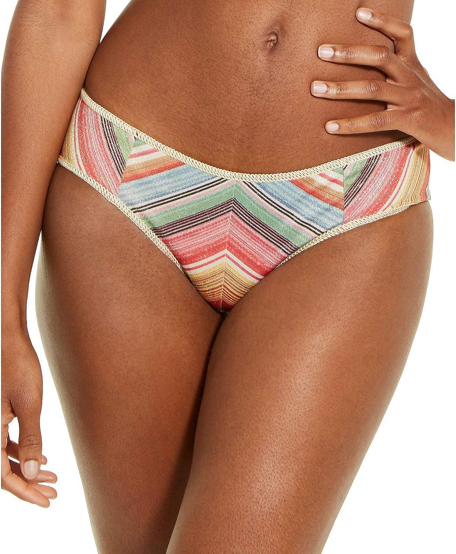 Becca by Rebecca Virtue Women's Striped Hipster Bikini Bottom, Multi, Large