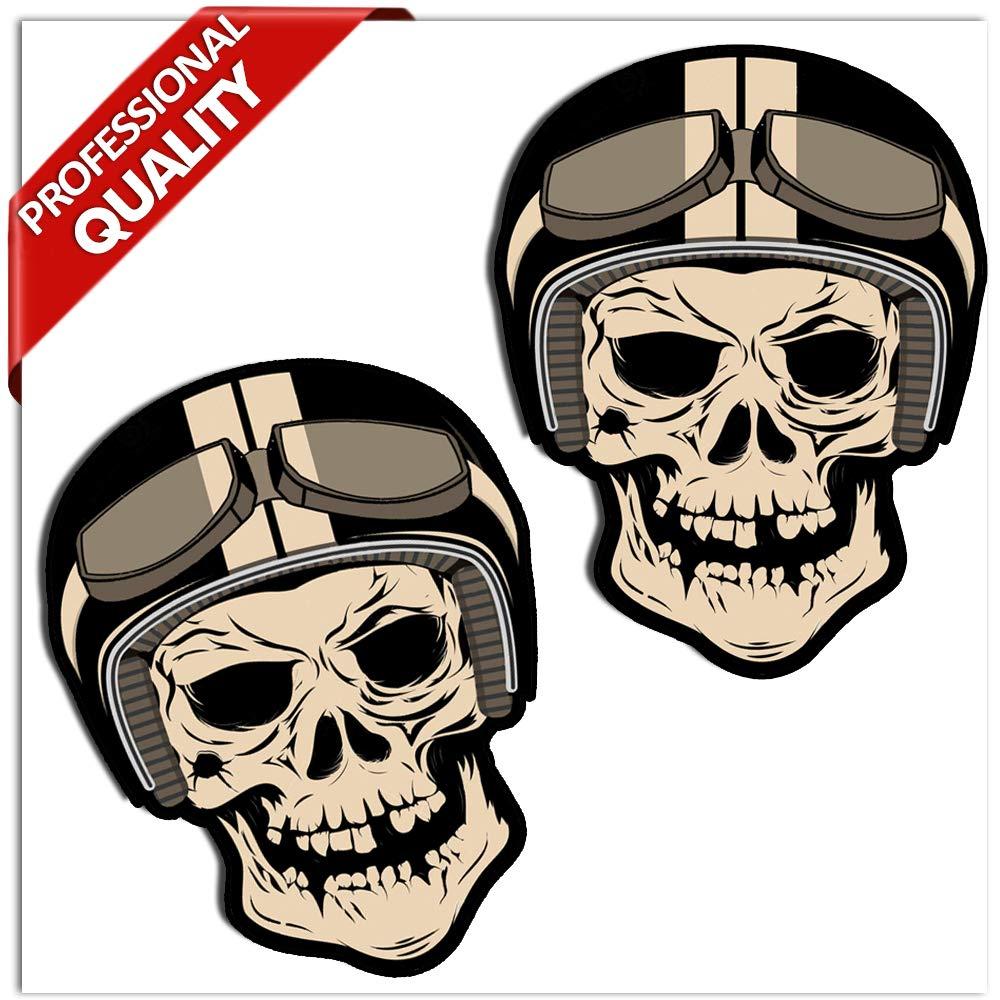 SkinoEu® 2 x PVC Laminado Adhesivos Pegatinas Stickers Calavera Cráneo Punisher para Motociclista Autos Coches Motos Ciclomotores Bicicletas Ordenador Portátil Regalo B 49: Amazon.es: Coche y moto