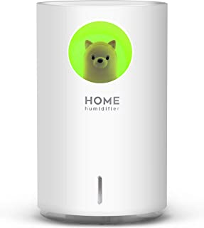 SEVEYEE Cute Humidifiers for Bedroom Home Office, 700mL Cool Mist Humidifier USB Ultrasonic,2 Mist Mode Timer 18hrs Auto S...