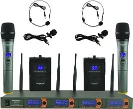 Freeboss FB-V04 2 Handheld 2 Headset Lavalier Vhf Wireless Microphone