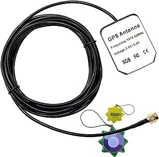 HQRP Antena Externa SMA GPS para Falcom Antena de GPS Activa Fal-Ant-3 / Antena de GPS Activa Fal-Ant-4 + HQRP medidor del...