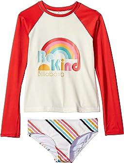 Seeing Rainbows Long Sleeve Rashguard Set (Little Kids/Big Kids)
