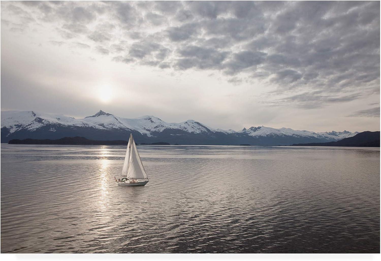 Trademark Fine Art Sailing at Sunset Alaska by Monte Nagler, 12x19
