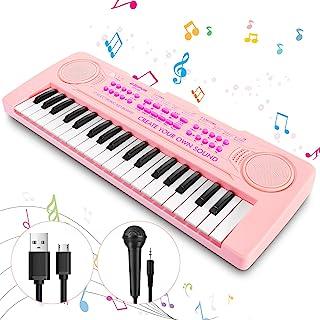 Vimzone Kids Piano Keyboard, 37Keys Multi-Function Musical I