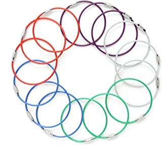 Steel Wire Loop Key Ring Cable, Versatile Heavy Duty Keychain, 5-Color, 6.7 inches 2MM, Sturdy for Looping Keys, Bags, ID Tags, Ideal Accessory for Hiking, Fishing and Travelling