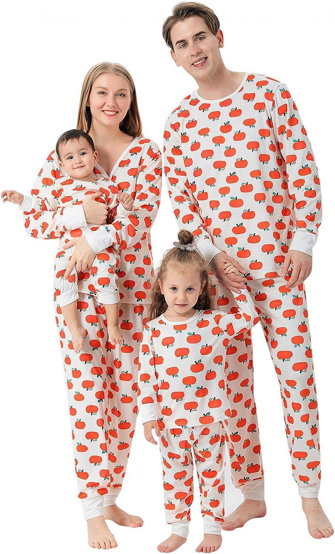 Matching Family Christmas Pajamas Sets, Family Jammies Matching Holiday Organic Cotton Pajamas, Pumpkin Pjs Outfits