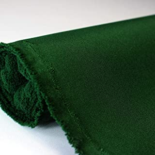 Mybecca Canvas Oxford Polyester Fabric Hunter Green 1 Yard Sold Folded by Separate Yard