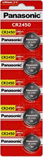 Panasonic CR2450 Lithium Knopfzelle (3°V, in Sichtverpackung)