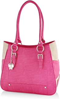 Butterflies Women's Handbag (Pink) (BNS 0546PK)