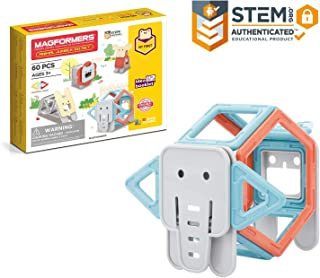 MAGFORMERS My First Animal Jumble 60Piece Set, Pastel Colors, Educational Magnetic Geometric Shapes Tiles Building STEM To...