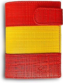 Cartera Hombre Piel Bandera Legado con Monedero para Monedas, Billetera Capacidad Varios Billetes Fabricado en España, de ...