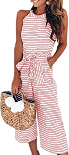 Best striped cropped jumpsuit Reviews