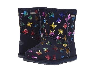 EMU Australia Kids Waterproof Flutter Brumby (Toddler/Little Kid/Big Kid) (Midnight) Girls Shoes