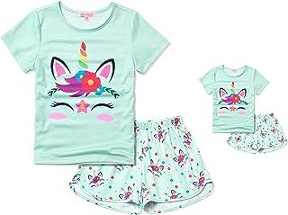 Matching Girls & Dolls Pajamas Unicorn Pj Sets Summer...