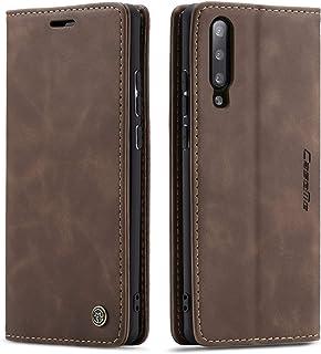 QLTYPRI Hülle für Samsung Galaxy A50, Vintage Dünne Handyhülle mit Kartenfach Geld Slot Ständer PU Ledertasche TPU Bumper Wallet Case Flip Schutzhülle für Samsung Galaxy A30S A50 A50S   Kaffee Braun
