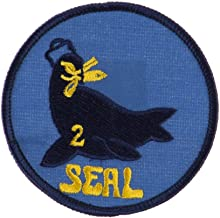 Navy Seal Team Embroidered Military Patch - Seal Team 2 W01S14B