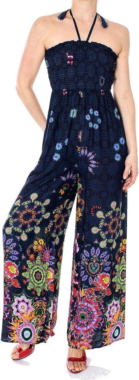 Desigual Women's 19SWMW28blueE bluee Cotton Jumpsuit