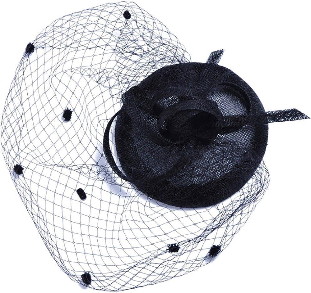 Beautiful Feather Mesh Net Veil Party Hat Fascinator Women's Church Kentucky Derby Hat