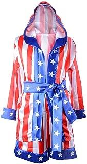 HUALIL Kids Rocky Balboa Black Boxing Costume Robe Shorts Boy Halloween Cosplay Suit