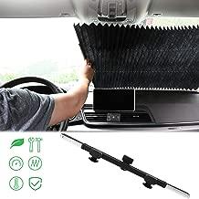 JKOVE Parasol Protector Solar para la Parabrisa Delantera del Coche Vibrant Peacock Feather Auto Shield Cover Sun Shade for Windshield UV Sun and Heat Reflector