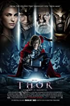 """Posters USA - Marvel Thor Movie Poster Glossy Finish - FIL303 (24"""" x 36"""" (61cm x 91.5cm))"""