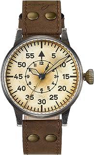 Laco - Reloj de Aviador Original Graz Erbstück de Laco – Fabricado en Alemania – 42 mm de diámetro – Diseño A – Calidad única – Excelente Acabado – Resistente al Agua – Desde 1925