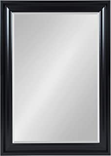 Kate and Laurel Umber Large Framed Rectangle Beveled Wall Mirror, 29.5x41.5, Black