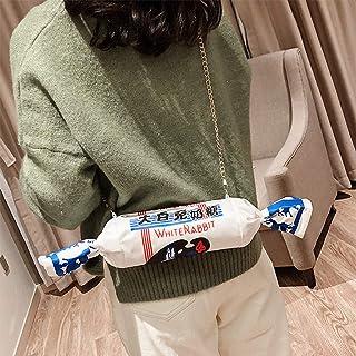 YiFeiCT YiFeiCT Mädchen-Handtasche / Schultertasche aus Segeltuch, Cartoon-Motiv weißer Hase, cremefarben, für Süßigkeiten