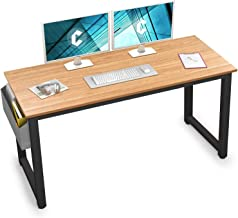 """Cubiker Computer Desk 63"""" Modern Sturdy Office Desk Large Writing Study Table for Home Office with Extra Strong Legs, Natural"""