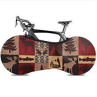 Lodge Bear Deer Fish Bicycle Wheel Cover, Anti-Dust Bike Indoor Storage Bag Scratch-Proof Washable High Elastic Tire Packa...