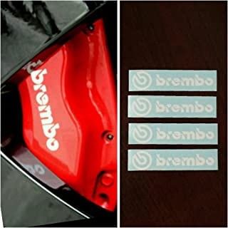 Brembo Brake Caliper R&G HIGH TEMP Decal Sticker Set of 4 (White)