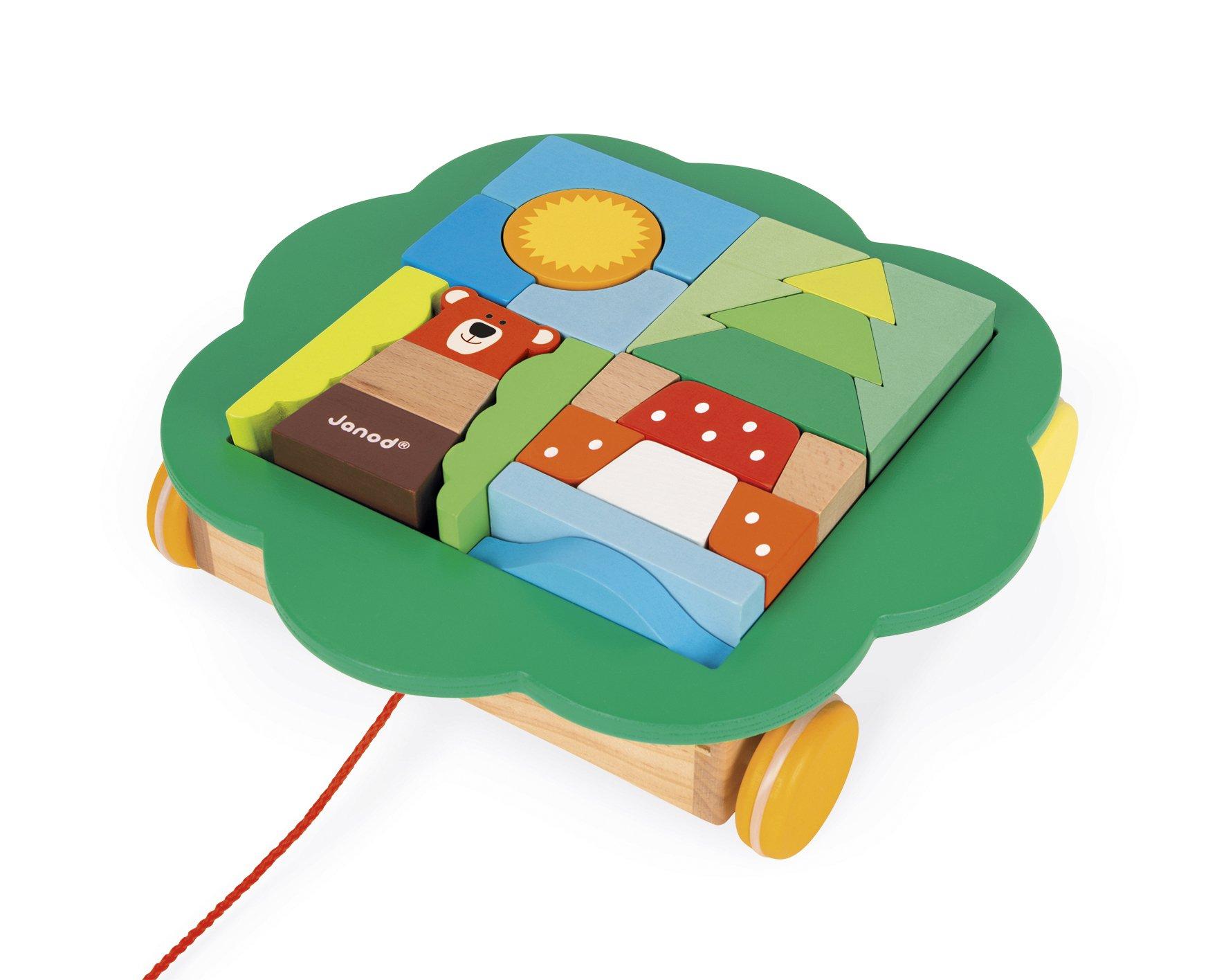 Janod - Carro de Cubos, zigolos para pasear (Juratoys J08196): Amazon.es: Juguetes y juegos