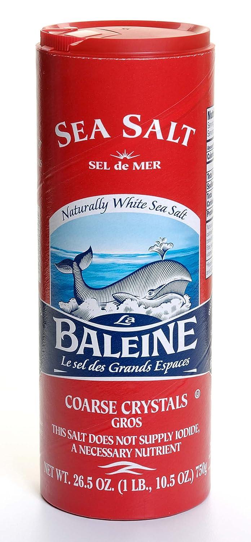 La Regular discount Baleine Sea Salt Coarse Canister - 26.5-Ounce New color Conta Crystals