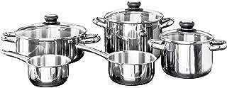 INOXIBAR Bateria 5 Piezas Forma Tapa Cristal Cocina