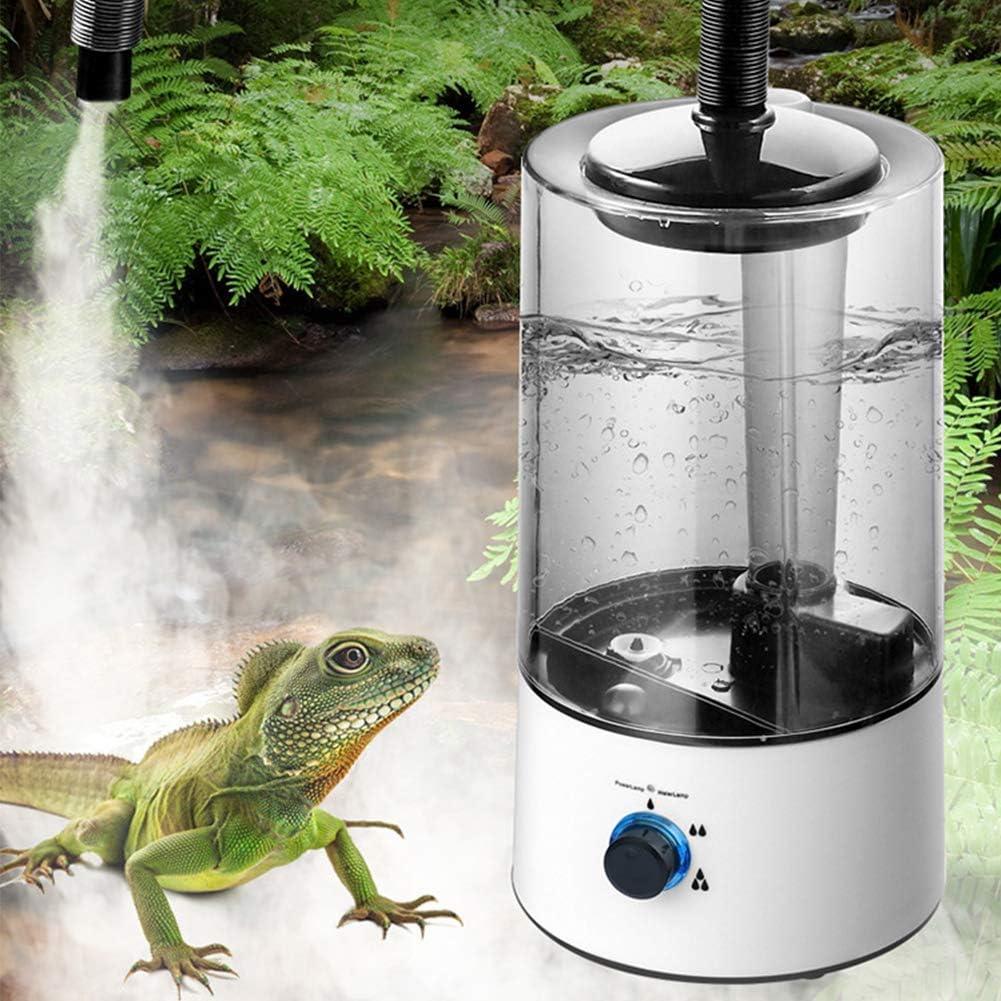 WERTAZ 4L Reptile Humidifier,Large Reptile Fogger Tank with Extension Tube,Suitable for Reptiles Amphibians Herps//Vivarium and Terrarium
