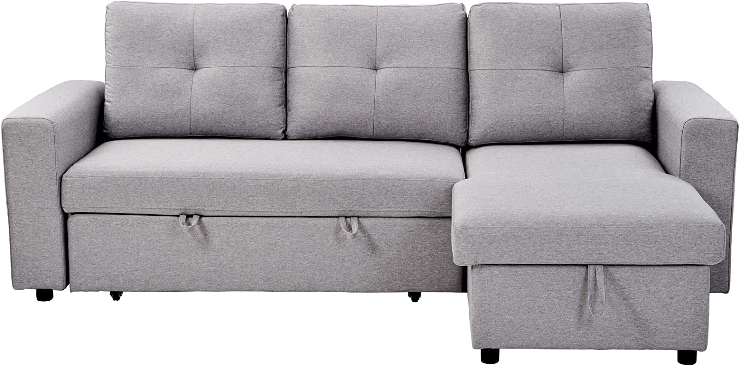 MOOVGTP Convertible Sectional Sofa Bed Out Pull National products Reversible Indianapolis Mall 90in