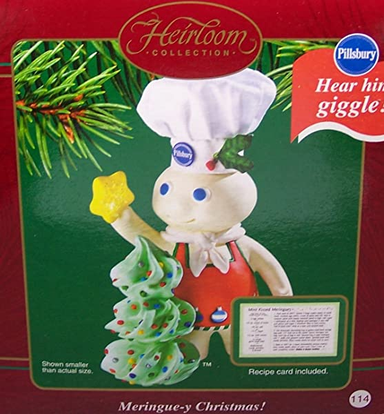 Carlton Cards 2003 Meringue Y Christmas Pillsbury Doughboy Ornament COXR 104J