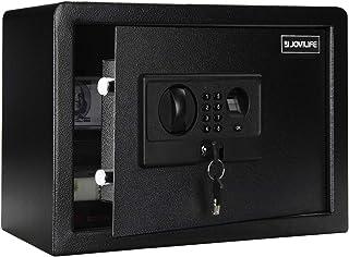 صندوق أمان Jovilife آمن مقاوم للحريق مع بصمات الأصابع - 0.8 قدم مكعب، أفضل أمان للأموال، لوحة المفاتيح الرئيسية الرئيسية ا...
