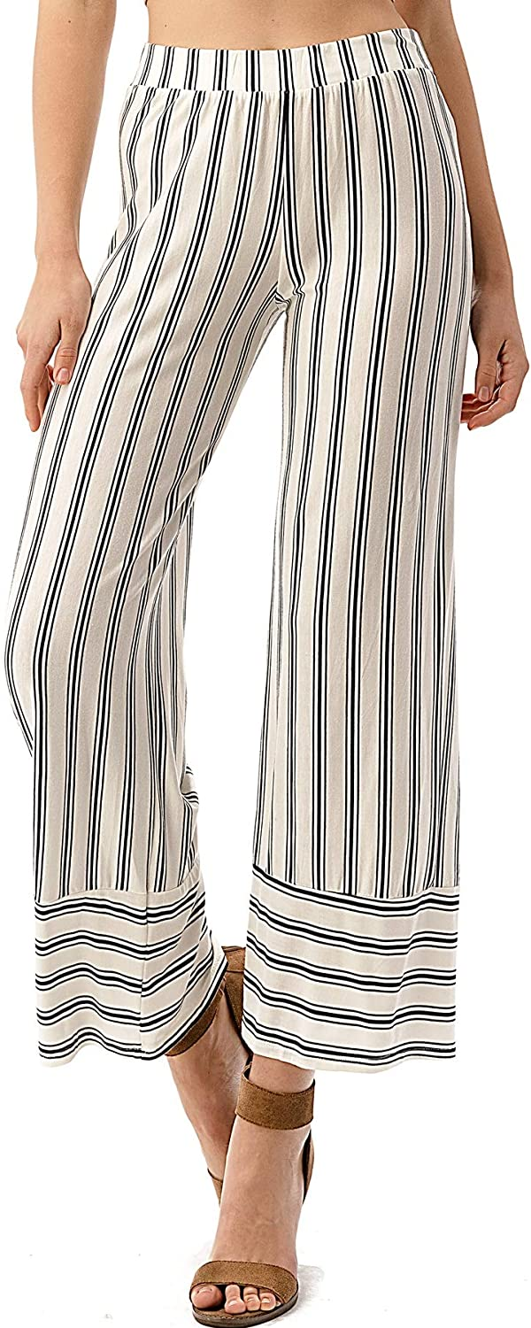 CULTURE CODE Women's Palazzo Pants - Casual Wide Leg High Waisted Soft Flowy Flare Bottoms Trouser