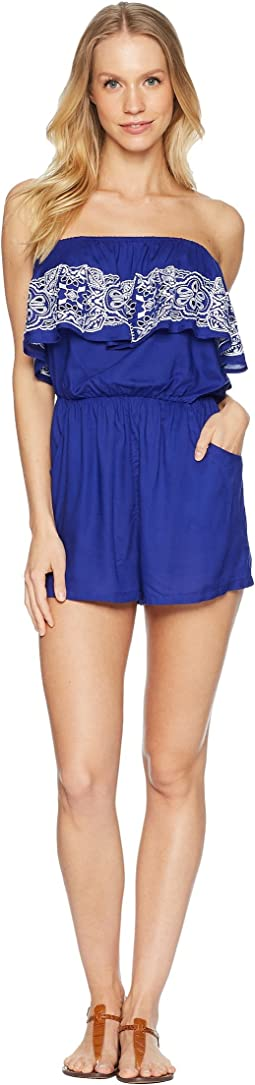Portofino Solids Bandeau Romper Cover-Up