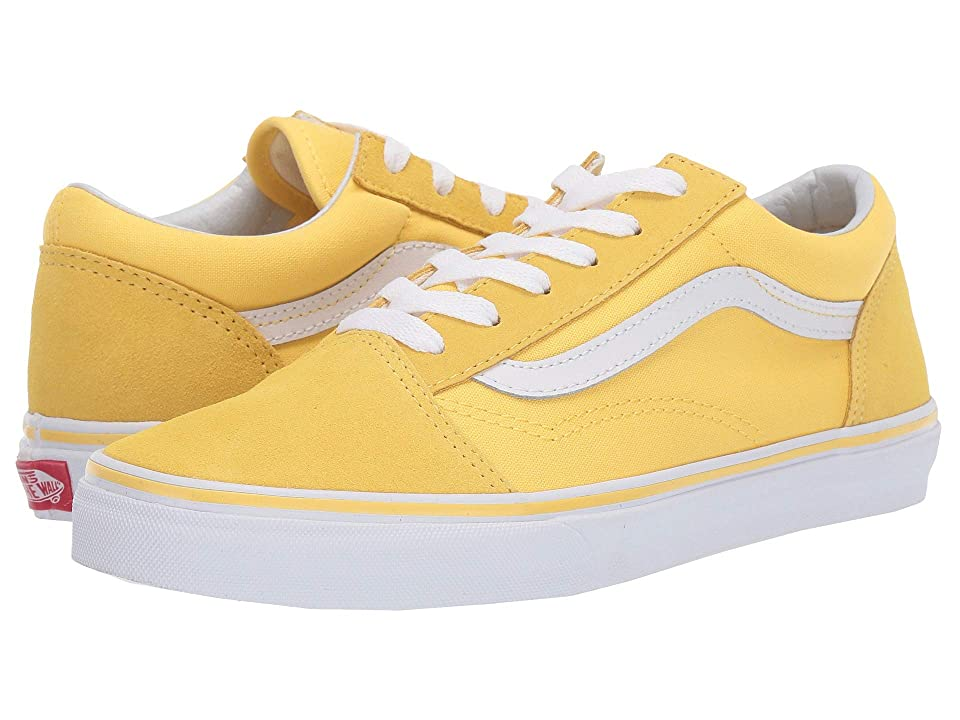 Vans Kids Old Skool (Little Kid/Big Kid) (Aspen Gold/True White) Girls Shoes