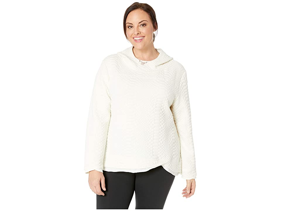 SHAPE Activewear Plus Size Restore Hooded Sweatshirt (Pristine) Women
