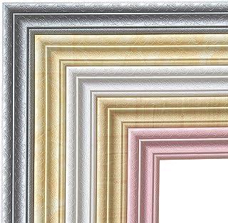 Catkoo Etiqueta De La Pared Inicio 3D Autoadhesivo Decorativo Moldura Línea De Zócalo Mural Frontera Etiqueta DIY Home Decal Decoración De Pared Sala De Estar Dormitorio Gris Plateado
