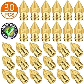 18 Pcs Boquilla Extrusora MK8 M6 Impresora 3D Extrusora Cabezal de ...