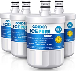 Golden Icepure LT500P Refrigerator Water Filter Replacement for LG LT500P, 5231JA2002A, Kenmore 469890 (4-Pack)
