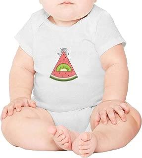 Cute Monster Lemon Yummy Icecream Short Sleeve Organic Baby Onesie Bodysuit Gift for Newborn Infant