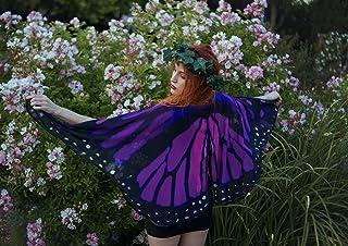 Alas mariposa monarca morado rosa disfraz fantasía halloween